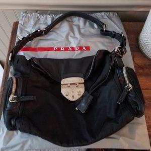 Prada nylon and leather bag
